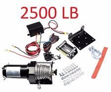 2500 Lb Winch ATV 4-Wheeler Plow 12V Truck Trailer Boat 3000 Pound New