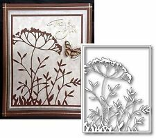 Memory Box Dies TOULOUSE BACKGROUND 98826 Die All Occasion Frame Flowers Leaves