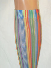 Rainbow Stripe Pop Socks. Knee high new tights. Bright green blue red yellow