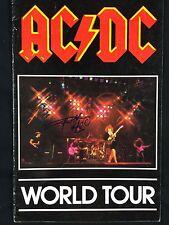 Angus Young AC/DC Signed Autograph World Tour Concert Program JSA