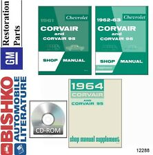 1961 1962 1963 1964 Chevrolet Corvair Shop Service Repair Manual CD Engine OEM