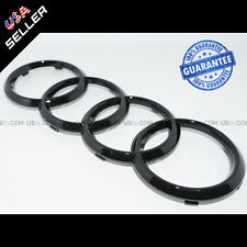 AUDI Gloss Black Front Grille Rings Badge Emblem Decoration Modified 8K0853605