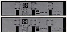 ATSF Dry Ice, HO scale printed reefer sides, different numbers available