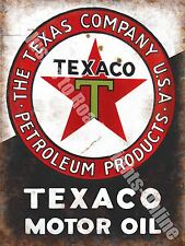 Texaco Motor Oil, 152 Old Vintage Garage Advertising Fuel, Medium Metal/Tin Sign