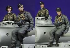 ALPINE Mens 35089 Tedesco Panzer AFV Crew figura Set 1 / 35th KIT non verniciata