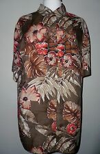 Vintage 1980s Marks and Spencers St Michael  Shirt floral size 16