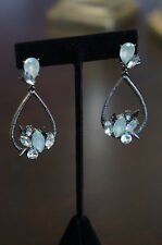 NEW Erickson Beamon Rocks Blondie Cluster Crystal Drop Hematite Earrings RARE