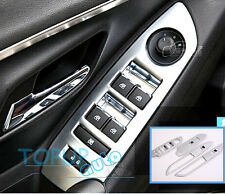 FIT FOR 13- TRAX TRACKER CHROME INTERIOR DOOR WINDOW SWITCH PANEL COVER TRIM
