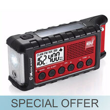 Midland ER310 Weather Alert Digital Emergency Solar Hand Crank Flashlight Radio