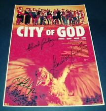 "CITY OF GOD PP SIGNED POSTER 12""X8"" Fernando Meirelles"