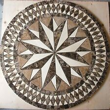 "Marble Travertine Tile Medallion Design Stone 28"" #4la"