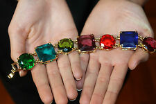 "Kate Spade NY ""Crystal Kaleidoscope""  Jumbo LINK Bracelet LIVE COLORFULLY!"
