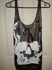 TUTUHA ROCK GYARU BLACK SKULL TOP SHIRT GLAVIL JAPAN FASHION VISUAL KEI PUNK NEW