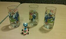 Vintage smurfs cup and toy lot mcdonalds tv show movie