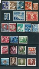 1949 - 1953 Germany DDR VARIOUS MINT HINGED & USED AS LISTED, CAT VALUE $70+
