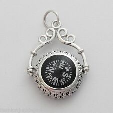 Victorian Filigree Compass - 925 Sterling Silver - NEW & WORKS Nautical Compass