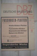 *#1939 - DEUTSCHE BAUZEITUNG- NSDAP-ERNÄHRUNGSHILFSWERK
