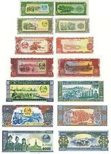 LAOS - LOTTO Lot 7 banconote 5/10/20/50/100/500/1000 kip FDS - UNC