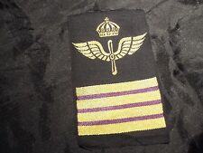 Swedish Air force arm patch rank insignia Colonel  pilot aviator 1970
