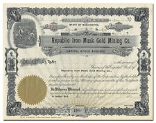 Republic Iron Mask Gold Mining Co. Stock Certificate