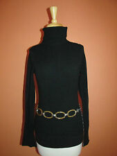 "Chico's Adjustable Blonde Faux Tortoise Lucite Chain Link Belt 39"" Long"