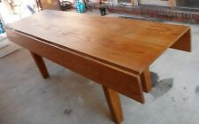 "7 1/2 ' Custom Built Solid Wood Drop Leaf Farm Table.90"" X 41"" Local Pickup Only"