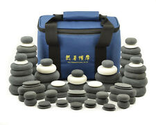 MassageMaster HOT/COLD STONE MASSAGE SET: 72 Basalt & Marble Stones