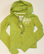 NWT ABERCROMBIE KIDS Girls Hoodie Sweatshirt Zip Up Jacket Green Size: Large