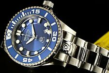 Invicta Men's 300M Grand Diver NH35 Automatic 3D Blue Dial Stainless Steel Watch