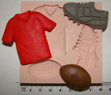 silicone mould rugby ball shirt boot cake cupcake boys birthday fimo resin clay