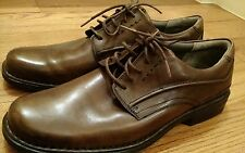 NWOB CLARKS brown leather, mens size 12, oxfords with laces