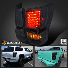 Smoke 2007-2013 Toyota Tundra LED Brake Tail Lights Lamps Left+Right