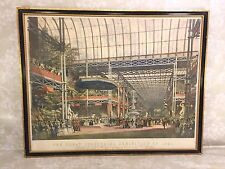 Ant 1851 Great Industrial Exhibition Lithograph of Crystal Palace Inauguration