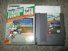 Family Fun Fitness: Stadium Events (Nintendo NES, 1987) with Box PAL B German