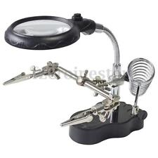 Soldering Iron LED Light Stand Helping Hands Magnifying Glass Magnifier Crocod