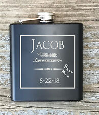 Personalized Best Man Humor Flask Engraved Bachelor Party Gift