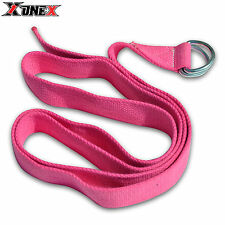 Anello Yoga stiramento Cinturino formazione Cintura Fitness exercisegym 180cm 100% COTONE