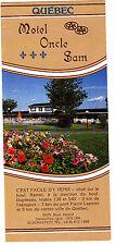 Motel Oncle Sam Sainte-Foy Quebec Canada Vintage Brochure