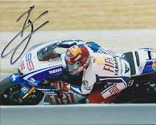 Jorge Lorenzo SIGNED MotoGP Champion Barcelona YAMAHA 10x8 Photo AFTAL