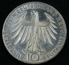 "1972 F 10 DM Munich Olympics 62.5% Silver Commemorative ""Athletes"" Design"