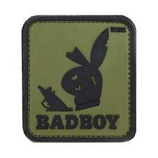 NEW 3D PVC 101 Inc Badboy Bunny Military Army Tactical Morale Patch Olive Green