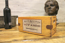 Titanic Box White Star Line Crate Antique Wooden Boat Vintage Liner Trunk Ship
