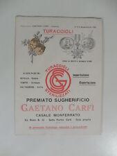 Turaccioli. Premiato sugherificio Gaetano Carfi', Casale Monferrato. Pieghevole
