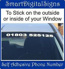 Personalised car wind screen Phone number Vehicle decal window Graphic 40cm wide