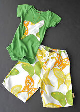 Boutique Zebi Baby Organic Linen Butterfly Pants & Applique Bodysuit 3M