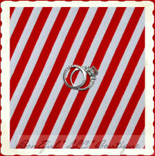 BonEful Fabric FQ Cotton KNIT Red White Candy Cane Raggedy Ann Dr Seuss L Stripe