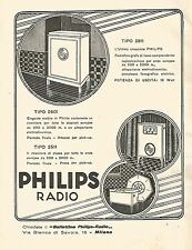 W9969 Radiofonografo PHILIPS - Pubblicità del 1931 - Old advertising