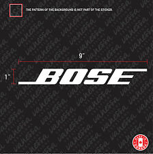 2X BOSE audio sticker vinyl decal white