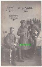 Foto Ak Pinsk Flintenweib Frau in Uniform deutsche Soldaten Włodawa polska 1916
