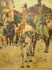 REGAMEY estampe encadrée 1911(7) UNIFORMES 1815 Général RAPP Officier Carabinier